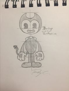 Bendy and the Ink Machine! (Credit: Vi the Security Guard) Forgot his tail, so I added his tail!