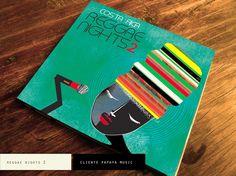 Discover→lacabeza design studio →CD cover art for Costa Rica Reggae Nights Shuffle PROJECT BY