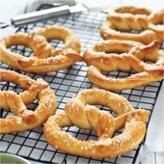 Soft Pretzel w Roasted Garlic Dip~ Soft pretzels are easier than you might think. The garlic dip is perfect for this and so much more.