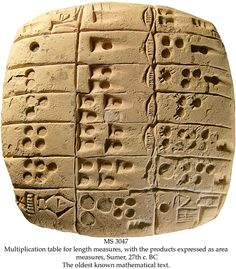 sexagesimal number system in Sumer
