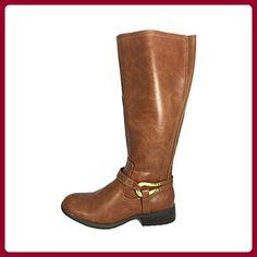 Nonbrand Damen Hochferse synthetischer Kniehohe Stiefel, Braun - braun - Größe: 36 - Stiefel für frauen (*Partner-Link)