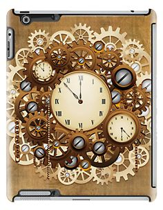 #Steampunk #Vintage #Style #Clocks and  NEW!  $55.22 > #iPad Cases #Gears by BluedarkArt on #redbubble   http://www.redbubble.com/people/bluedarkart/works/11118364-steampunk-vintage-style-clocks-and-gears?p=ipad-case  #xmas_gifts, #christmas_gifts_ideas,