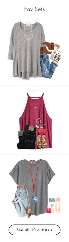"""""""Fav Sets"""" by kaitlynbug1226 ❤ liked on Polyvore featuring MANGO, J.Crew, Too Faced Cosmetics, Seychelles, Urban Decay, Kendra Scott, tarte, Laura Mercier, Nordstrom and H&M"""