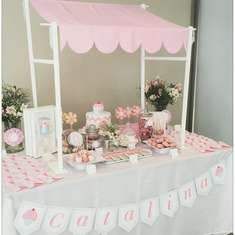 Primer Año para Cata - Pink & Aqua Cupcake