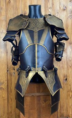 Helmet Armor, Larp Armor, Suit Of Armor, Viking Cosplay, Cosplay Armor, Knight Outfit, Female Armor, Pauldron, Shoulder Armor