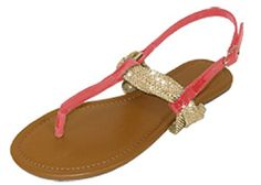 Womens T Strap Roman Gladiator Sandals Flats W/Bow 6 Colors (6373 7/8, Coral/Gold) Unknown http://www.amazon.com/dp/B00S71OW7Q/ref=cm_sw_r_pi_dp_Jplevb1AHYJET