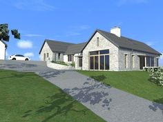 <p>This dwelling is a single storey dwelling, Articulated into different elements in order to reduce the scale of the proposal.</p>  <p>The dwelling design uses traditional render, and stonework, which will be constructed in dry-stone walls in order to provide a variation in the masonry materials used on the dwelling.</p>  <p><span style=