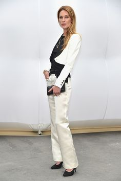 Erin Wasson attends the Chanel show as part of the Paris Fashion Week Womenswear Fall/Winter 2017/2018 on March 7 2017 in Paris France
