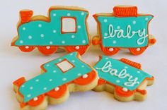 baby shower--love this! Wish I did for my sons baby shower if I knew beforehand his love of orange/blue colors and trains!! :)