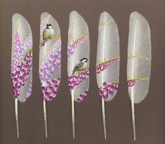 Beautiful Swan Feather Paintings - My Modern Metropolis