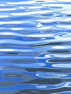 Exhibition [ minima ] art works Tokyo aoyama on Behance - Lyla Marsh Painting Inspiration, Art Inspo, Posca Art, Water Patterns, Water Ripples, Nature Posters, Guache, Water Art, Water Reflections
