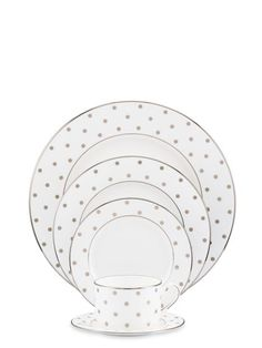 the prettiest gold dot plates from @Kate Mazur Mazur Mazur spade new york