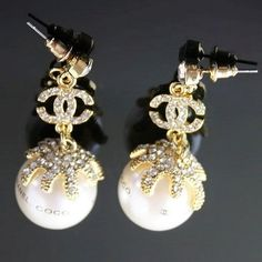 Chanel pearl earrings.