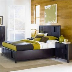 Magnussen Nova Platform Bed Bedroom Set in Espresso Finish. I've died and gone to bedroom heaven!  ithoughtyouknewblog afflink