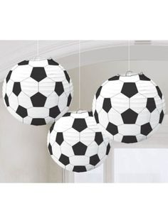 """Soccer 9 1/2"""" Paper Lantern Decorations - Individualized Party Supplies"""