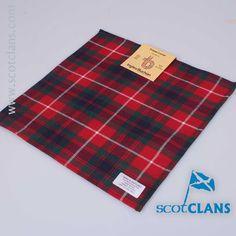 Wool pocket square in Fraser of Lovat Modern tartan from ScotClans