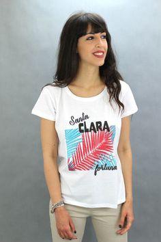 Camiseta manga corta. 100% algodón. T Shirt, Tops, Women, Fashion, T Shirts, Supreme T Shirt, Moda, Tee Shirt, Fashion Styles