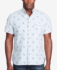 4055b45614 Polo Ralph Lauren Men s Big   Tall Printed Short-Sleeve Shirt   Reviews -  Casual Button-Down Shirts - Men - Macy s