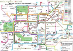 map bus route network main tourist attractions central london key stops places visits london top tourist