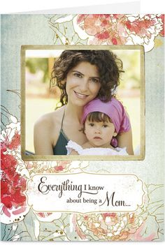 Painted Flower Frame Photo Mother's Day Card