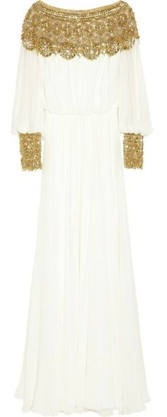 Marchesa | Embellished silk-chiffon gown |