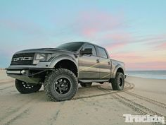 This custom 2011 Ford SVT Raptor Custom has been given the moniker Baja-Ready by its creator and owner Theresa Contreras of San Dimas, California. 2014 Ford Raptor, Ford Svt, Raptor Truck, Svt Raptor, Raptor Toys, Truck Rims, San Dimas, Mens Gear, Custom Trucks
