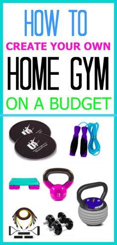 create own home gym for CHEAP. Budget home gym.