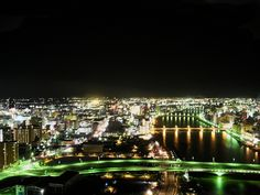 Niigata at night Night Scenery, Niigata, Beautiful Places In The World, Japan Travel, Dolores Park, Explore, City, Cities, Exploring