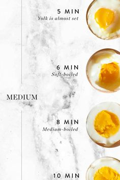 The Minute-by-Minute Guide to Boiling Eggs via @PureWow