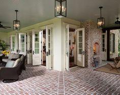 Love the brick flooring