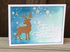 Kerstin's kleine Bastelwelt: Zur Abkühlung....., Weihnachten 2016, Card xmas 2016, Amy Design, Schriftstanze, Hirsch, gewischter Hintergrund, SU Perpetual Calendar