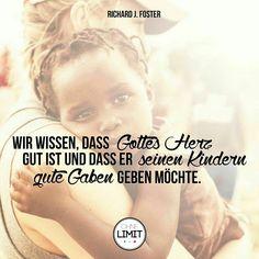 #gott #ist #gut #zitat #foster #ohnelimitgeliebt