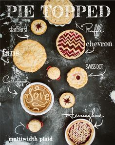 The perfect pie crust designs on how to bake and decorate beautiful desserts and dinners. These pie crust recipes will blow your mind with amazing quiche crust… Beaux Desserts, Köstliche Desserts, Delicious Desserts, Dessert Recipes, Yummy Food, Dessert Healthy, Plated Desserts, Yummy Recipes, Sweet Recipes