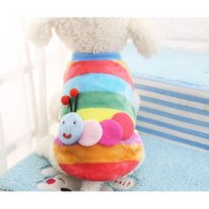 Winter Cartoon Puppy Vest Clothing Soft Warm Flannel Dog