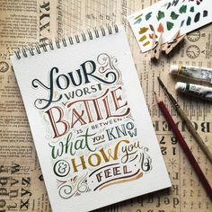 Beautiful Inspiring Ink & Watercolor Hand Lettering Projects by Abbey Sy Calligraphy Doodles, Calligraphy Quotes, Calligraphy Letters, Typography Quotes, Typography Inspiration, Typography Letters, Design Inspiration, Brush Lettering Quotes, Watercolor Hand Lettering