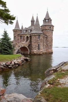The Power House at/for Boldt Castle is attached to Heart Island by this awesome bridge.  Located in the St. Lawrence river in the 1000 Islands region of New York.  Built in the very early 1900's to house two generators.  Boldt castle can be visited and rented for weddings!