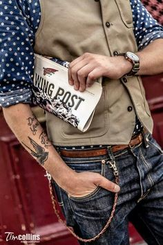 S rockabilly fashion, rugged style, old men style, men' Moda Rockabilly, Rockabilly Fashion, Old Man Fashion, Vintage Fashion, Mens Fashion, Fashion News, Sharp Dressed Man, Well Dressed, Bottes Red Wing