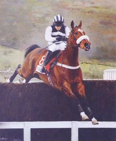 Moscow Flyer -Winner of 13 Grade 1 races including the Queen Mother Champion Chase x Melling Chase x Tingle Creek . Racehorse, Horses, Horse Horse, Horse Racing, Moscow, Fine Art, Animals, Portraits, Top