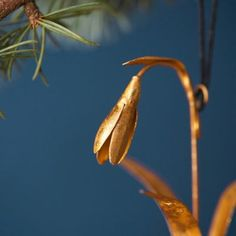 Golden Snowdrop Ornament