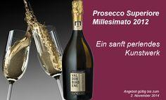 """Der """"Millesimato"""", ein eigens kreierter Prosecco, ein sanft perlendes Kunstwerk, das nur in besonderen Weinjahren entsteht. Es erwartet Sie ein Luxus-Prosecco aus Valdobbiadene, dem Kerngebiet des Prosecco. Äußerst eindrucksvoll und mit wunderbaren Apfel-, Melonen und Rosenaromen, frisch und anregend."""