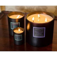 Marmalade of London 3 Wick Large Black Glass Candles available on www.thegreatbritishhome.com #candles #madeinbritain #marmaladeoflondon #homefragrance #britishcandles #thegreatbritishhome