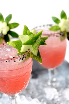 These fresh Watermelon Margaritas are trimmed with garnish made from the rind! Clever, tasty and made from scratch with fresh lime juice and watermelon. Aquavit Cocktails, Fun Cocktails, Summer Drinks, Cocktail Drinks, Watermelon Margarita, Watermelon Rind, Watermelon Recipes, Best Cocktail Recipes, Food Garnishes