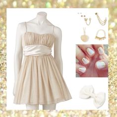 Simple ivory dress. Reminds me of a cupcake