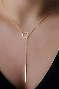 CHARM 20 Gold Metal Chian Necklace