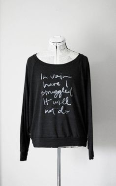 In Vain Slouchy Sweatshirt size S M L Mr. Darcy by Brookish, $36.00