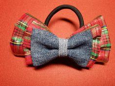 ribbon bow ponytail holder 103L