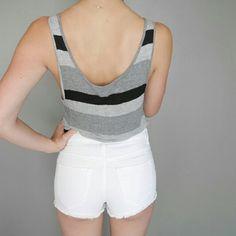 Shorts - White distressed shorts