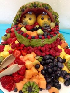 Two Peas In A Pod Baby Shower/Twin Birthday Or Best Friends Party  Watermelon U0026 Fruit Pod