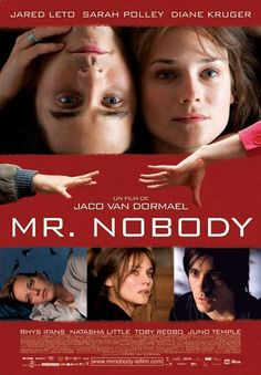 Official theatrical movie poster ( of for Mr. Nobody Directed by Jaco Van Dormael.m, Sarah Polley Mr Nobody, Sarah Polley, Jaco, Diane Kruger, Top Movies, Great Movies, Jared Leto Movies, Incredible Film, Juno Temple