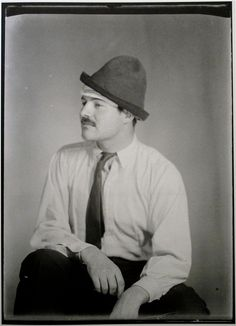 Ernest-Hemingway by Man Ray, 1921-1937   http://www.retronaut.com/2012/04/portraits-by-man-ray-1921-1937/